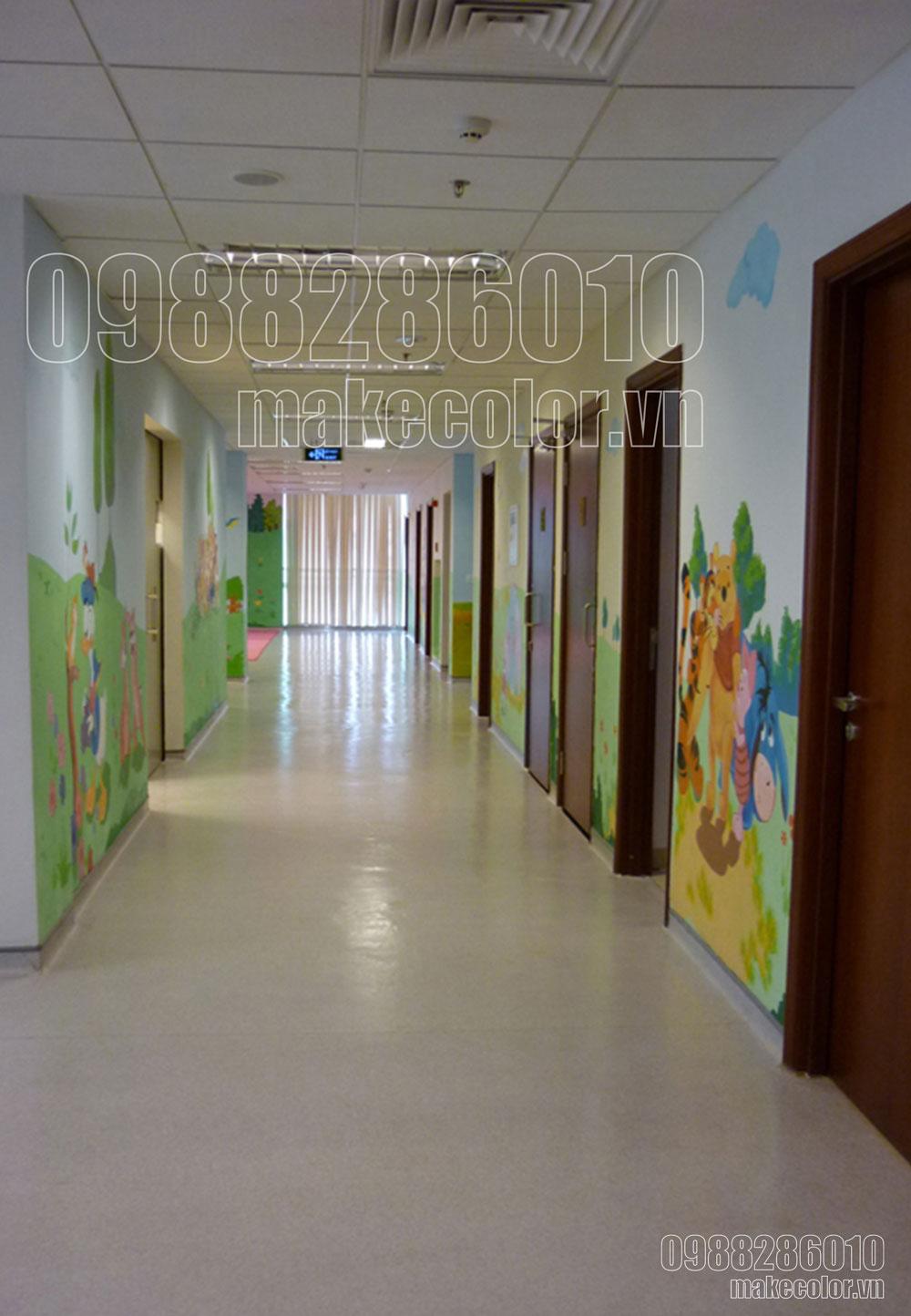 Vẽ tranh tường bệnh viện đa khoa Quốc tế Vinmec