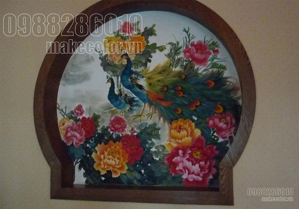 Vẽ tranh tường nhà hàng Lục Thủy