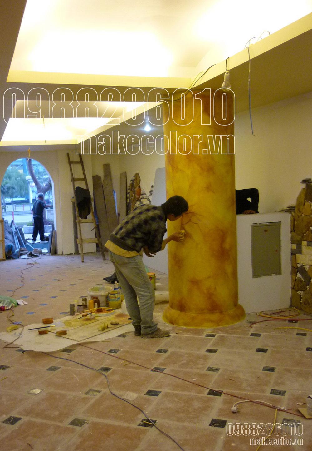 Vẽ tranh tường nhà hàng tiệc cưới Hồng Ân