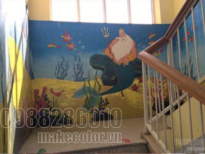 Vẽ tranh tường trường mầm non Võ Cường - TP Bắc Ninh