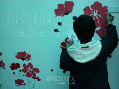 Vẽ tranh tường tại Ngọc Hà - Hà Nội - 12m2