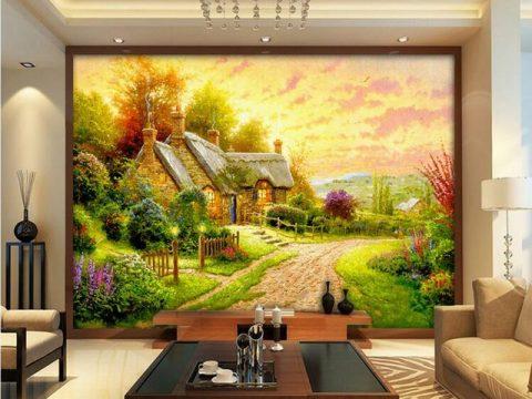 Những mẫu tranh tường Phòng Khách đẹp không thể rời mắt