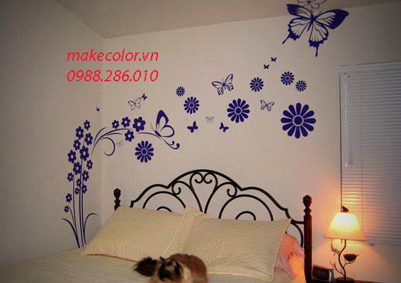 Vẽ tranh tường phòng ngủ đẹp và độc đáo nhất năm 2020