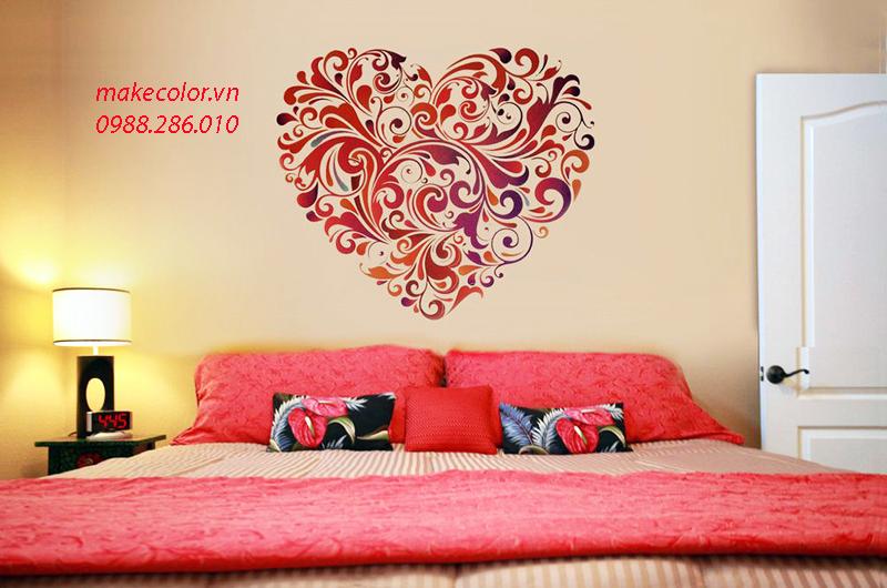 Vẽ tranh tường phòng ngủ giá rẻ đầu năm Canh Tý.