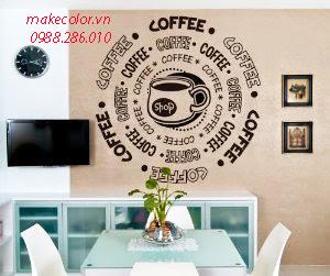Vẽ tranh tường quán cafe đẹp, độc đáo