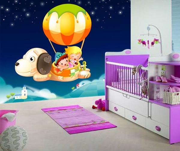 Giá vẽ tranh tường phòng ngủ bé gái
