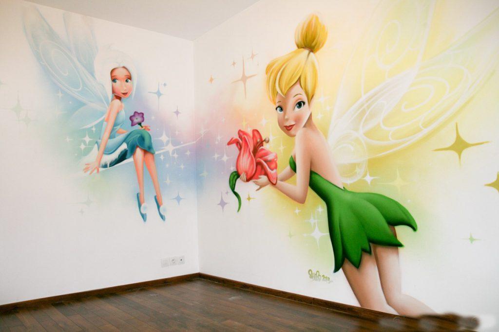 Những mẫu tranh tường phòng ngủ bé gái đẹp nhất năm 2018