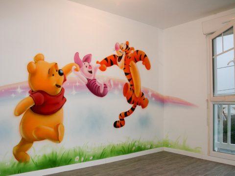 Vẽ tranh tường mầm non 3D