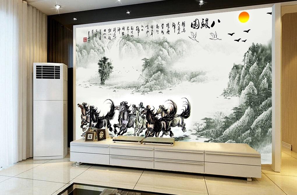 Vẽ tranh tường văn phòng công sở công ty mẫu đẹp