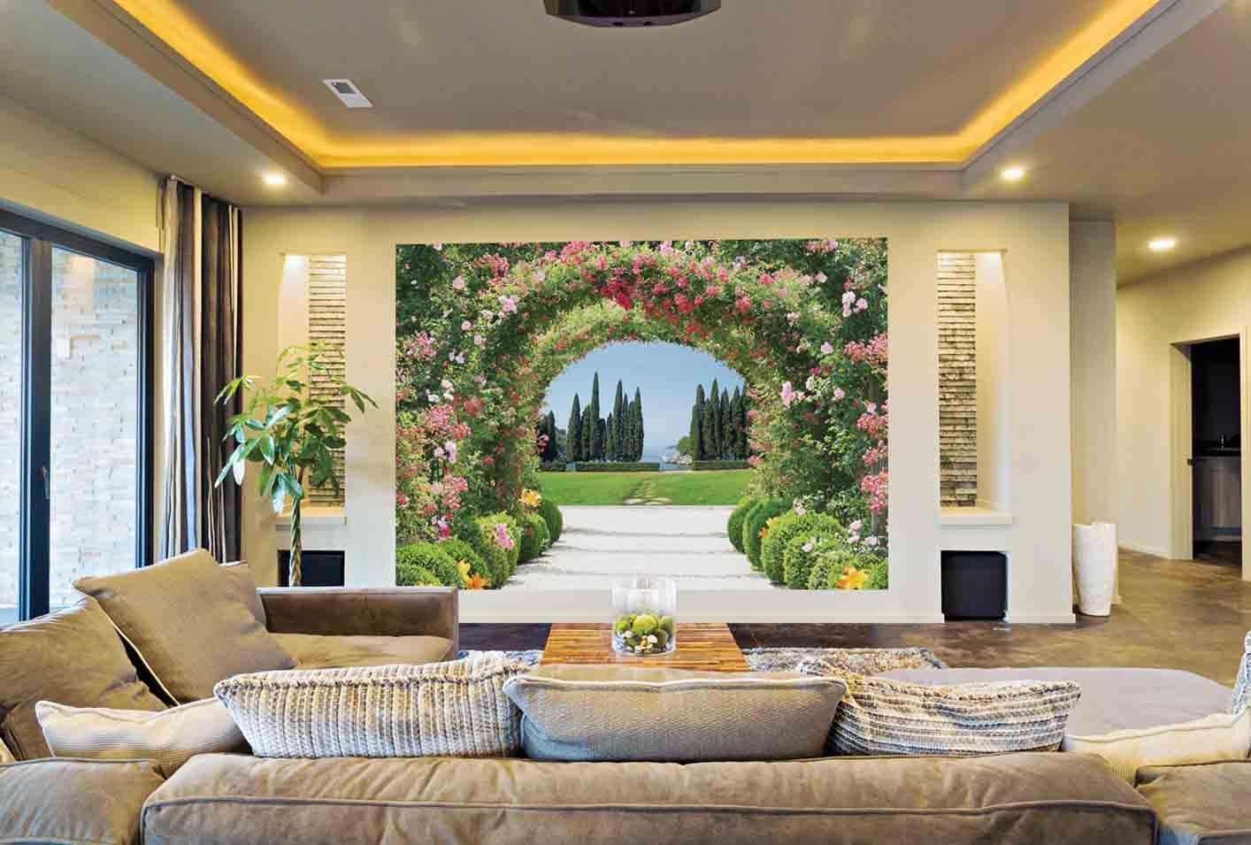 Giá vẽ tranh tường phòng khách phòng làm việc mới nhất 2020