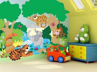 Những yêu cầu cơ bản khi vẽ tranh tường cho bé