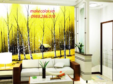 Lý do nên vẽ tranh tường phòng khách thay cho hình thức trang trí khác