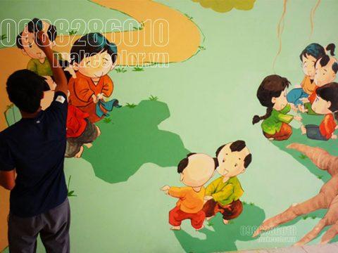 Vẽ tranh tường cho bé từ 0 đến 4 tuổi