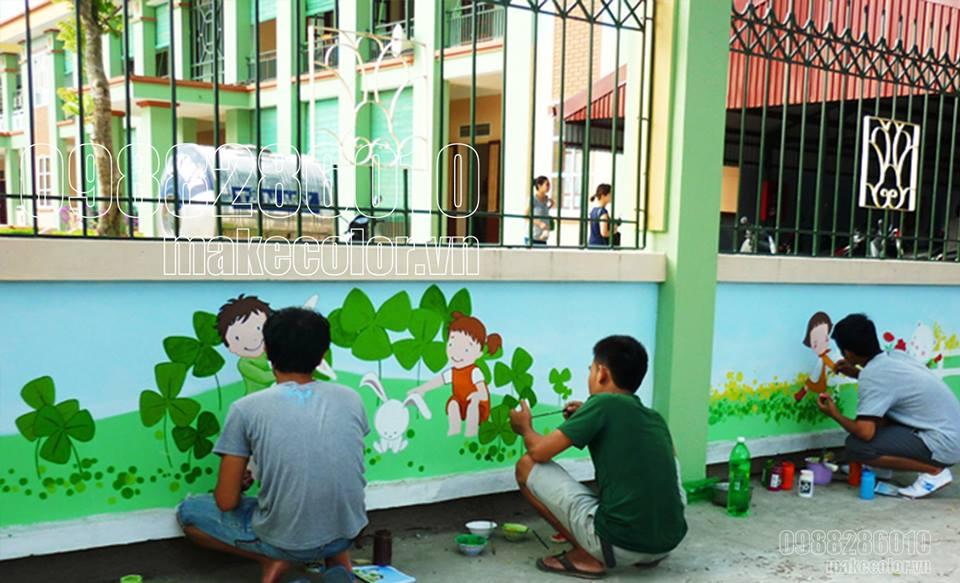 tranh tường tại trường mầm non