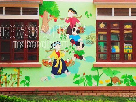 Vẽ tranh tường mần non giá rẻ đẹp nhất hiện nay