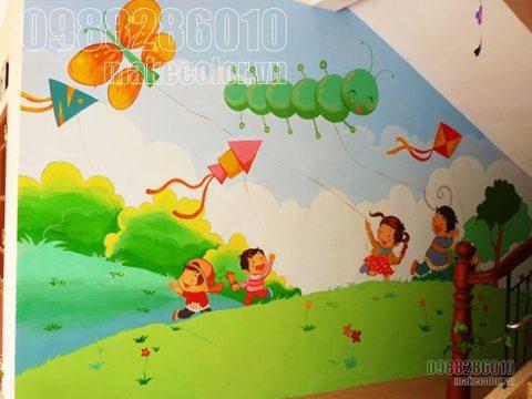 Vẽ tranh tường mầm non Hà Nội