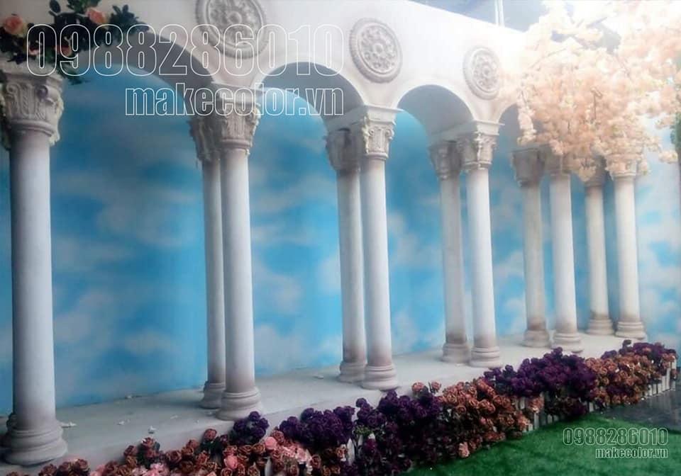 Vẽ tranh tường nhà hàng tiệc cưới đẹp nhất hiện nay