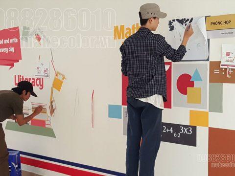 Vẽ tranh tường trường tiểu học giá rẻ nhất tại Hà Nội