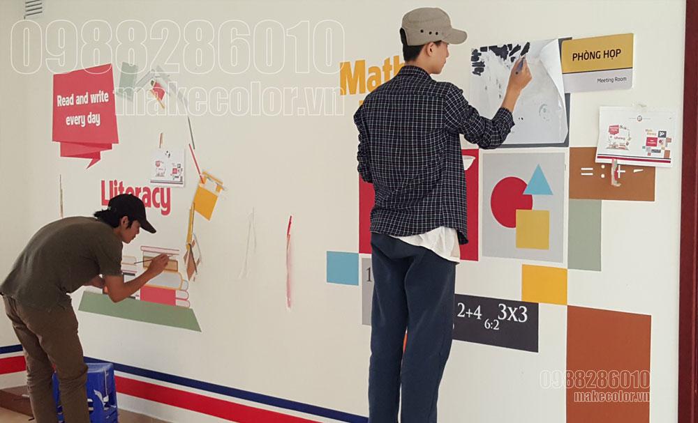 Dịch vụ vẽ tranh tường trường học