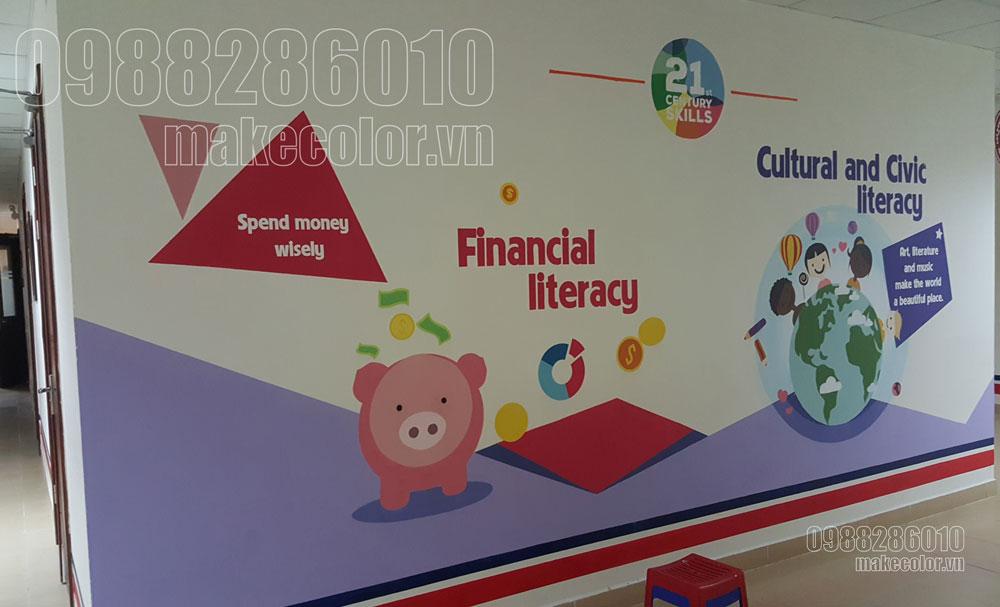 Xu hướng vẽ tranh tường các trường học hiện nay.
