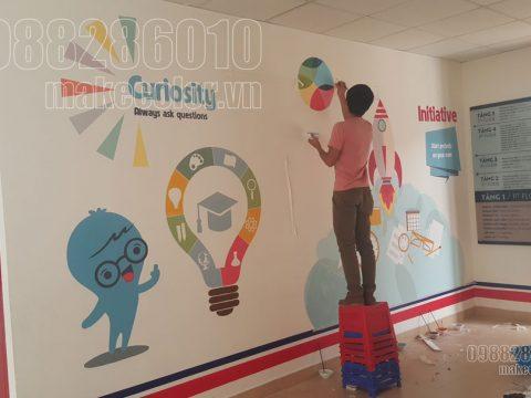 Vẽ tranh tường trường tiểu học giá tốt nhất hiện nay