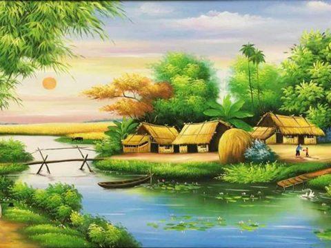 Xu hướng vẽ tranh tường phong cảnh làng quê hiện nay