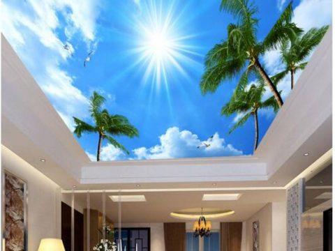 Vẽ tranh tường trần nhà trời mây giá rẻ và đẹp nhất năm nay
