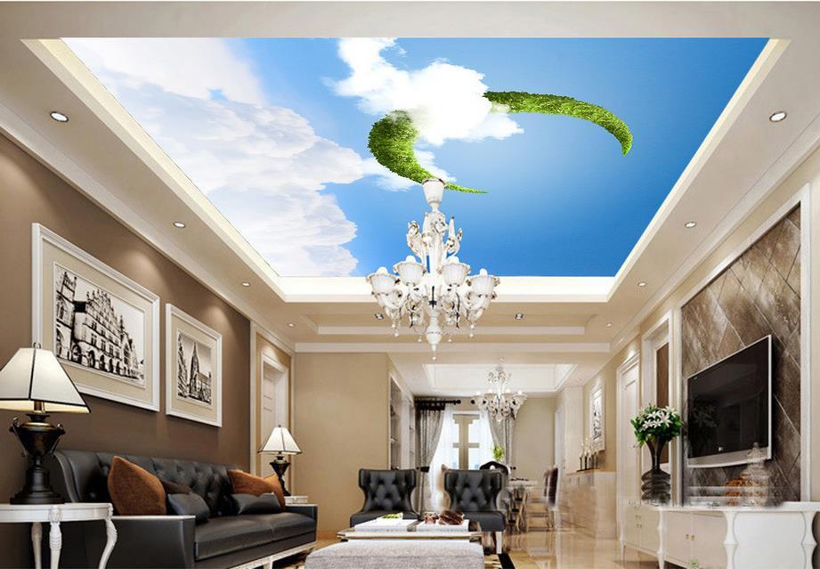 Vẽ tranh tường trần nhà với chủ đề trần xuyên sáng
