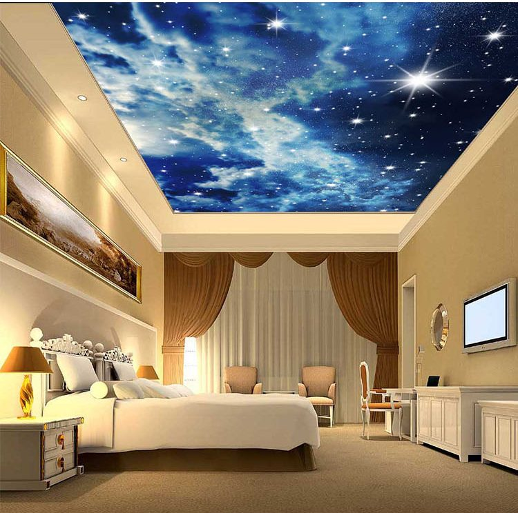 Xu hướng vẽ tranh tường trần nhà 3D phòng khách
