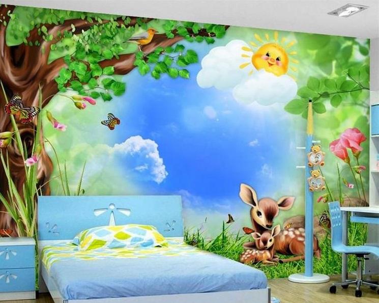Lợi ích bất ngờ của vẽ tranh tường phòng ngủ cho bé yêu đẹp, hấp dẫn