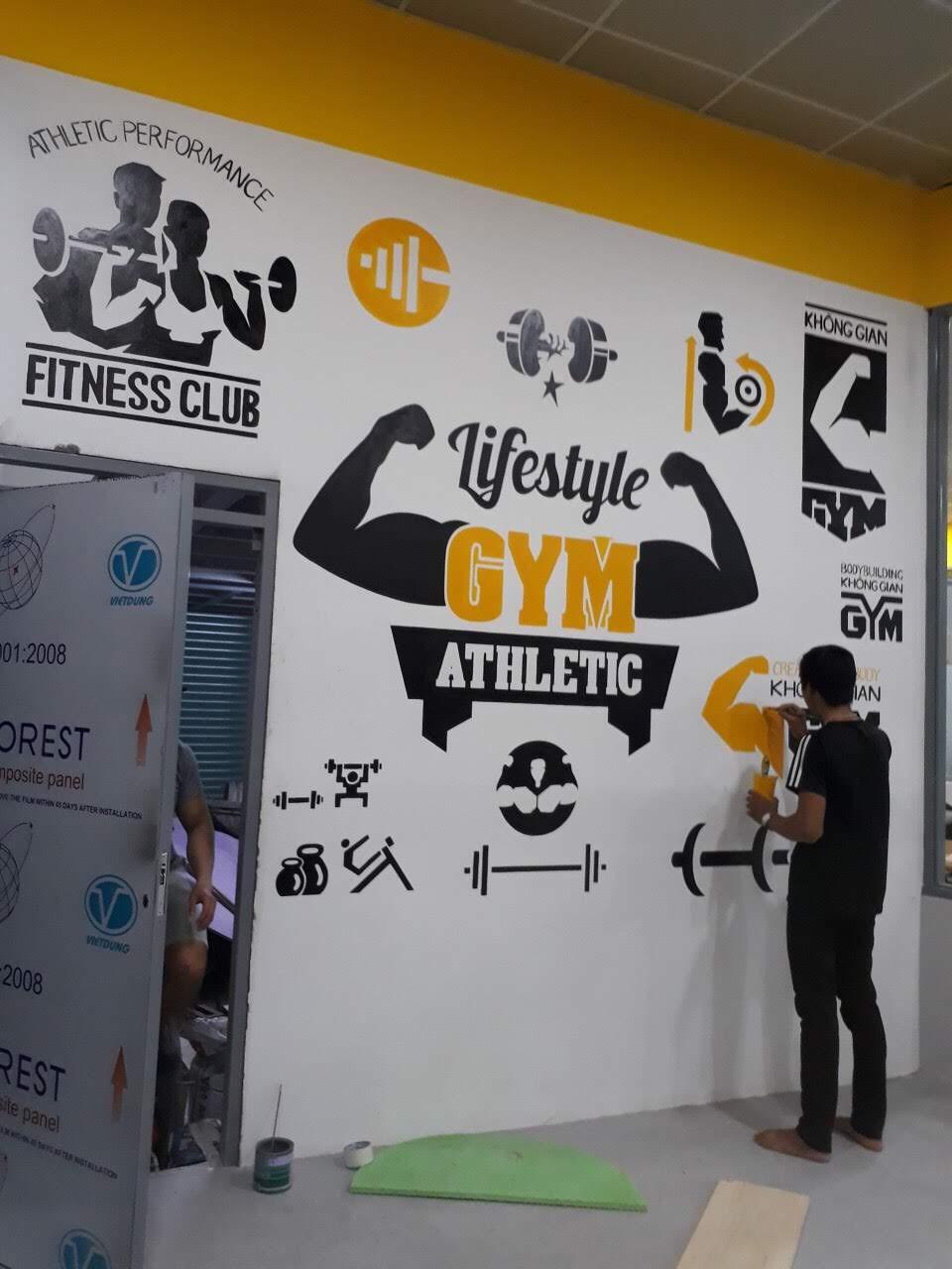 Tư vấn vẽ tranh tường phòng tập Gim - Boxing - Yoga