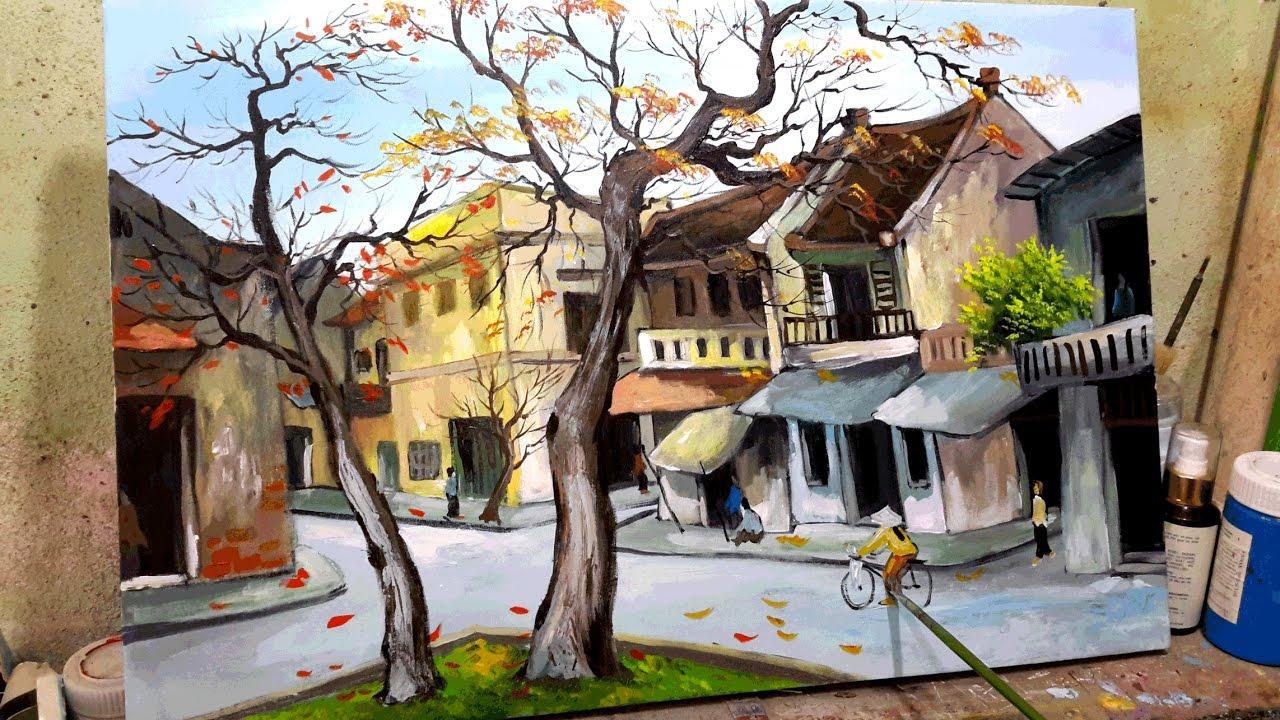 Vẽ tranh tường phố cổ Hà Nội đẹp nhất 2020