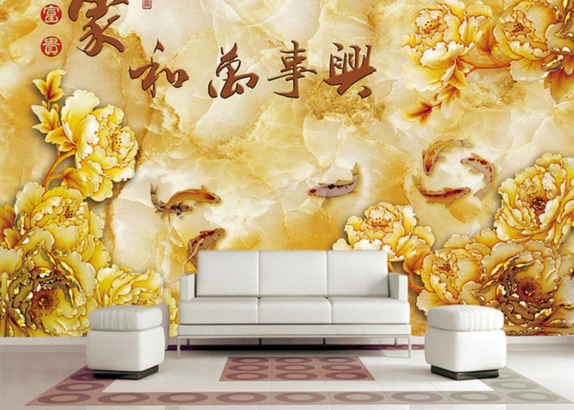 Vẽ tranh tường phòng khách theo phong thủy