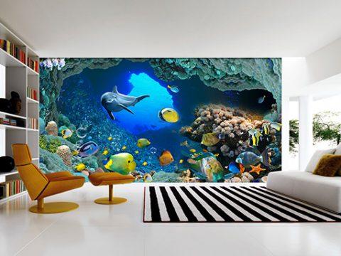 Vẽ tranh tường theo yêu cầu chỉ có giá từ 150k/m2, tranh mới, mẫu đẹp