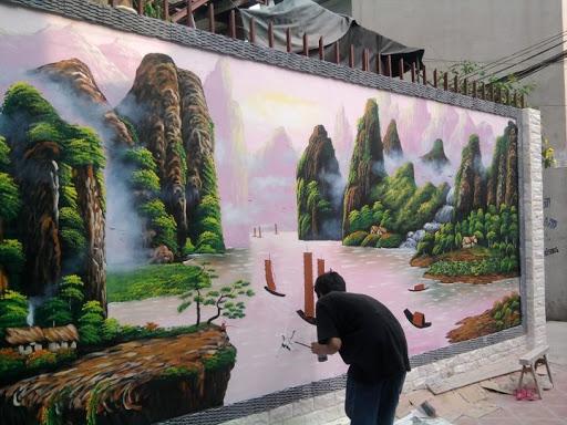 Vẽ tranh tường theo yêu cầu