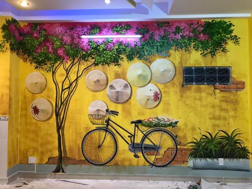 Vẽ tranh tường quán trà chanh đẹp hút mắt giá rẻ bất ngờ