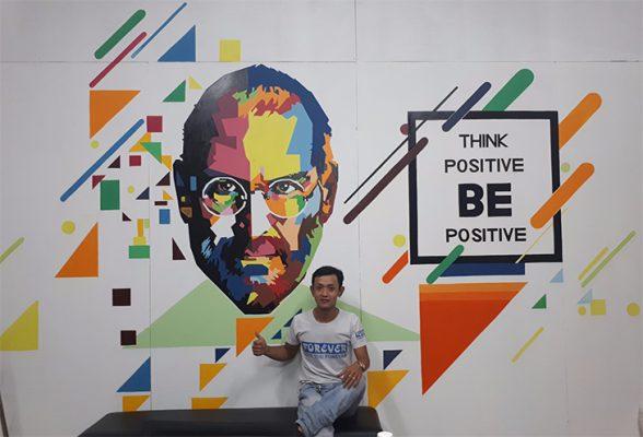 Dịch vụ vẽ tranh tường văn phòng công ty